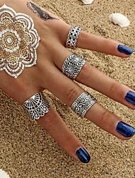 cheap -Ring Set Gold Silver Alloy Stylish Unique Design Fashion 4pcs / Women's