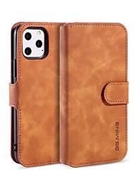 Недорогие -чехол для apple iphone 11 / iphone 11 pro / iphone 11 pro max кошелек / держатель для карты / с подставкой для всего тела