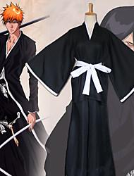 Недорогие -Вдохновлен Косплей Rukia Kuchiki Аниме Косплэй костюмы Японский Косплей Костюмы Брюки / Пояс / кимоно Пальто Назначение Муж. / Жен.
