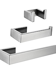 cheap -Robe Hook / Toilet Paper Holder / Towel Bar Creative / Premium Design Modern / Contemporary Metal / Stainless Steel / Stainless Steel + A Grade ABS 3pcs - Bathroom Wall Mounted