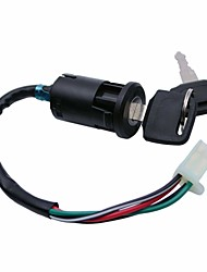Недорогие -универсальный мотоцикл электрический ключ зажигания выключатель зажигания ствол с 4 провода