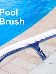 cheap -18inches curved pool brush cleaning tool for spa wall floor swimming pool accessories