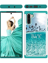 cheap -Case For Samsung Galaxy Note 9 / Galaxy Note 10 / Galaxy Note 10 Plus Shockproof Back Cover Scenery TPU / PC