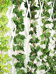 cheap -1Pc Simulation Grape Leaf Three-Dimensional Green Radish Large Leaf Fake Flower Rattan Ceiling Green Vine Engineering Decoration Vine Attic Ceiling Restaurant Living Room Decoration Flower Green Plant