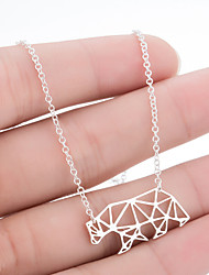 cheap -Women's Necklace Stainless Steel Rose Gold Gold Silver 45 cm Necklace Jewelry 1pc For Daily Holiday School Street Festival