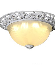 cheap -1-Light LED Flush Mount Lights Antique Country Style Indoor Ambient Light Ceiling Light Painted Finishes Metal Ceiling Light Fixtures