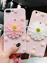 cheap -Case For Apple iPhone XS / iPhone XR / iPhone XS Max Mirror / Ultra-thin / Pattern Back Cover Cartoon / 3D Cartoon / Flower TPU / PC