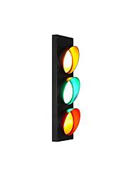 Недорогие -светильник творческий светофора дизайн простой / современный современный настенный светильник&усилитель; подсвечники игровая комната / магазины / кафе металлический настенный светильник