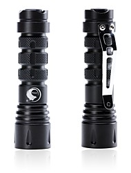 cheap -U'King LED Flashlights / Torch 600 lm LED Emitters 3 Mode Zoomable Rotatable Camping / Hiking / Caving Everyday Use Cycling / Bike Black / Aluminum Alloy