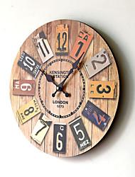 Недорогие -Мдф европейские старинные настенные часы цветные цифровые настенные часы украшения
