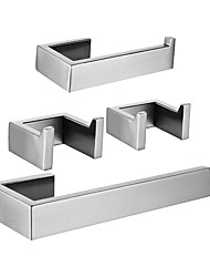 cheap -Toilet Paper Holder / Towel Bar / Bathroom Accessory Set Creative / Premium Design Fun & Whimsical / Contemporary Metal / Stainless Steel / Stainless Steel + A Grade ABS 4pcs - Bathroom Wall Mount