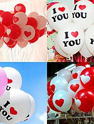 cheap -10Pcs Helium Heart Balloons I LOVE YOU Latex Decor Supplies Birthday Decorations Balloon Babyshower Wedding Party
