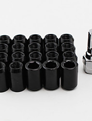 cheap -M12x1.5  20Pcs/Set 1.5 Inner Cold Forged Steel Hexagon Wheel Drive Lug Nuts 20x12mmx1.5 Spline Lugnuts Cone Acorn Taper Seat