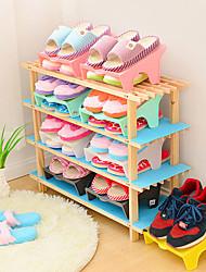 cheap -Shoes Rack & Hanger Plastics 2 Pairs Unisex Blue / Brown / Green