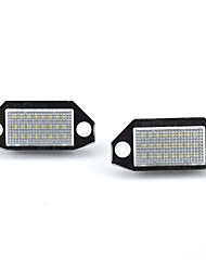 cheap -2pcs/set No Error LED Number License Plate Light Lamp for Ford Mondeo MK3 2000-2007