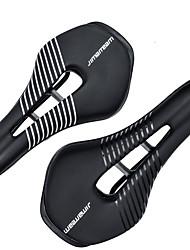 cheap -JIMAITEAM Bike Saddle / Bike Seat Breathable Comfort Reduces Chafing Hollow Design PU Leather Steel Silica Gel Cycling Road Bike Mountain Bike MTB Folding Bike Black White / Ergonomic / Ergonomic