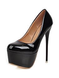 abordables -Femme Chaussures à Talons Talon Aiguille Bout rond Polyuréthane Printemps & Automne Noir / Rouge
