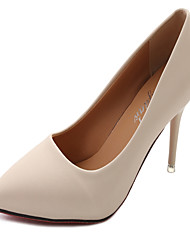 cheap -Women's Heels Stiletto Heel Pointed Toe PU Classic / Minimalism Spring &  Fall Black / Dark Grey / Beige