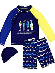 abordables -Enfants Garçon Géométrique Maillot de Bain Bleu Marine