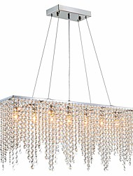cheap -6-Light 18CM(7.02inch) Crystal Island Light Crystal Chrome Modern Contemporary 110-120V / 220-240V
