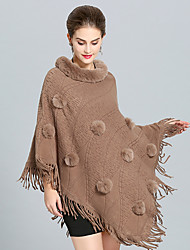 cheap -Sleeveless Capes Faux Fur / Imitation Cashmere Wedding / Party / Evening Women's Wrap With Tassel / Pom-pom / Splicing