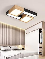 cheap -1-Light 35 cm Tri-color Flush Mount Lights Wood / Bamboo Wood / Bamboo Geometrical Wood LED / Modern 110-120V / 220-240V