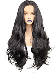 cheap -Synthetic Wig Body Wave Layered Haircut Wig Very Long Natural Black Synthetic Hair 68~72 inch Women's New Arrival Black