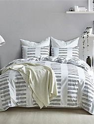 cheap -Duvet Cover Sets Solid Colored / Geometric / Stripes / Ripples Polyester / Polyamide Printed 3 PieceBedding Sets