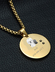 cheap -Personalized Customized Shepherd Dog Dog Tags Classic Gift Daily 1pcs Gold Silver
