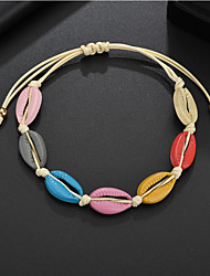 cheap -Women's Vintage Bracelet Earrings / Bracelet Loom Bracelet Braided Shell Vintage Fashion Cute Boho Colorful Cord Bracelet Jewelry Rainbow For Daily