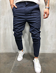 cheap -Men's Basic Cotton Chinos Pants - Solid Colored Black Army Green Khaki US32 / UK32 / EU40 / US34 / UK34 / EU42 / US36 / UK36 / EU44