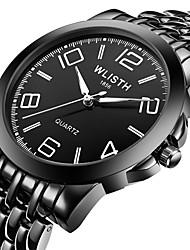 cheap -Steel Band Watches Quartz Noctilucent Digital Minimalist - Black White