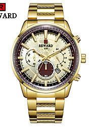 cheap -Men's Dress Watch Quartz Modern Style Sporty Black / White / Gold 30 m Calendar / date / day Chronograph Creative Analog Classic Fashion - Black Black / Rose Gold White