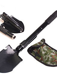 cheap -Portable Garden Tools Military Multifunction Folding Shovel Stainless Steel Survival Shovel Paddle Outdoor Camping Cleaning Tool