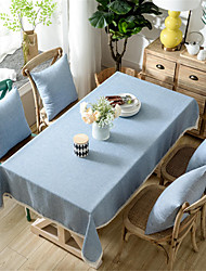 cheap -Solid Color Tablecloth Bamboo Knotted Linen with Tassel Tablecloth Tea Coffee Table for Dining Table Home Room Decoration