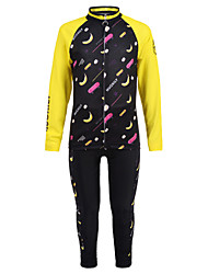 cheap -Nuckily Boys' Girls' Long Sleeve Cycling Jersey with Tights - Kid's Winter Fleece Spandex Black / Yellow Fruit Bike Clothing Suit Windproof UV Resistant Breathable Moisture Wicking Quick Dry Sports