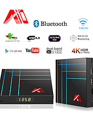 cheap -A10 Smart TV Box 4GB 32GB RK3318 Quad core IPTV Android TV Box Youtube 4K HDR Media Player Google Play