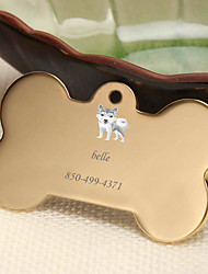 cheap -Personalized Customized Alaskan Malamute Dog Tags Classic Gift Daily 1pcs Gold Silver Rose Gold