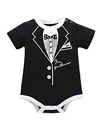 cheap -Baby Boys' Basic Geometric / Color Block Short Sleeves Romper Black