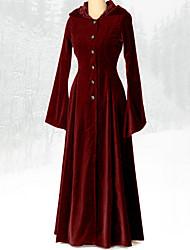 cheap -Women's Maxi Wine Black Dress A Line Solid Colored S M