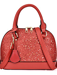 cheap -Women's Glitter / Zipper PU Top Handle Bag Leather Bags Solid Color White / Black / Red / Fall & Winter