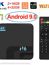 Недорогие -H6 TV Box Android 8,1 Allwinner H6 UHD медиа-плеер 6 К HDR 2 ГБ 16 ГБ 2,4 г Wi-Fi TV Box 100 м LAN USB 3.0 H.265 vp9