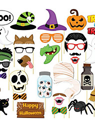cheap -Halloween / Festival Party Accessories Photo Booth Props & Signs Pumpkin / Patterned Hard Card Paper Classic Theme / Creative / Rustic Theme