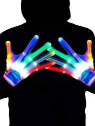 Недорогие -красочные светящиеся перчатки 6 моделей светодиодные перчатки светодиодные волшебные перчатки новинка хэллоуин костюм ну вечеринку декоративные перчатки пара