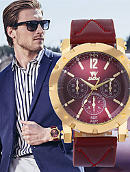 cheap -Men's Sport Watch Quartz PU Leather Black / Blue / Red No Chronograph Creative New Design Analog New Arrival Fashion - Black Red Blue One Year Battery Life
