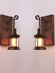 cheap -Creative Rustic Lodge Vintage Wall Lamps & Sconces Indoor Metal Wall Light 110-120V 220-240V 60 W