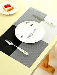 cheap -4Pcs Household Fashion PVC Dining Table Placemat Europe Style Home Kitchen Tools Tableware Pad Coaster Coffee Tea Place Mat