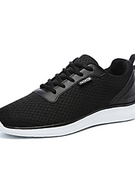 cheap -Men's Comfort Shoes Mesh / PU Fall Sporty Athletic Shoes Running Shoes Non-slipping Black / Dark Grey / Light Grey
