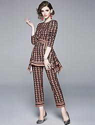 abordables -Femme Basique Chemise - Géométrique Pantalon