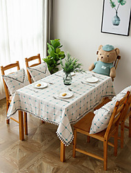 cheap -Casual polyester fibre Square Table Cloth Solid Colored Table Decorations